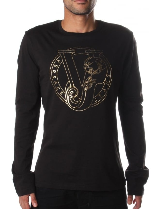 14c6d22b8 Versace Jeans Foil Print Men's Long Sleeve T-shirt