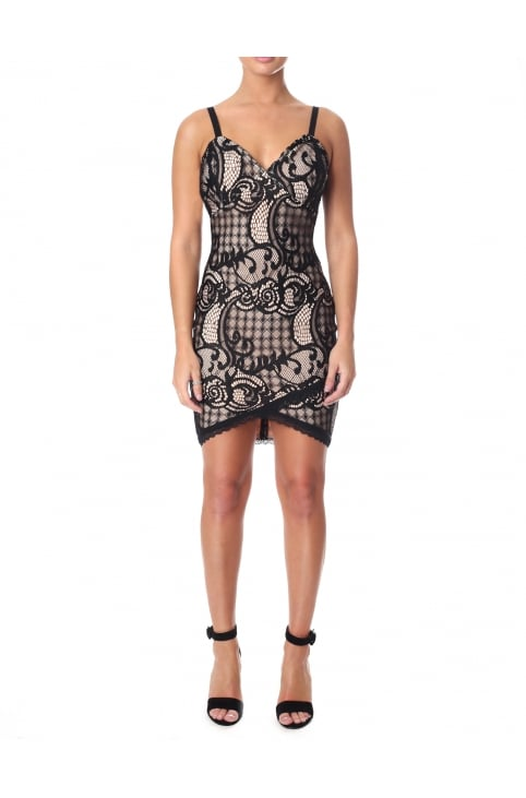 Strappy Bodycon Lace Dress
