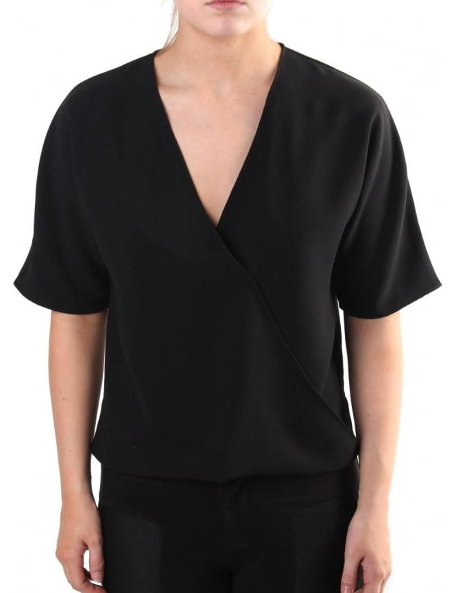 French Connection Arrow Crepe Women's Wrapover Top