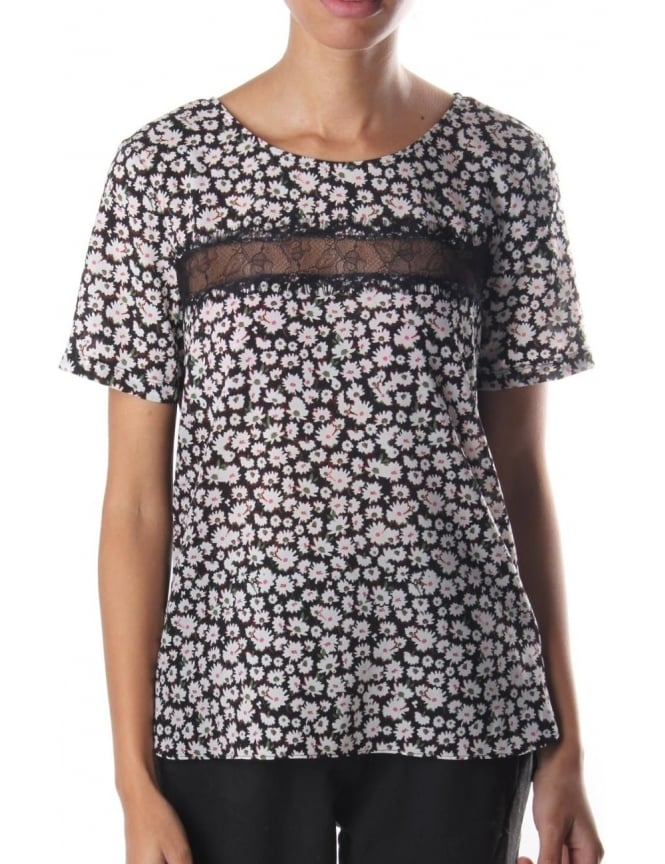 French Connection Bloomsbury Daisy Women's Short Sleeve Top