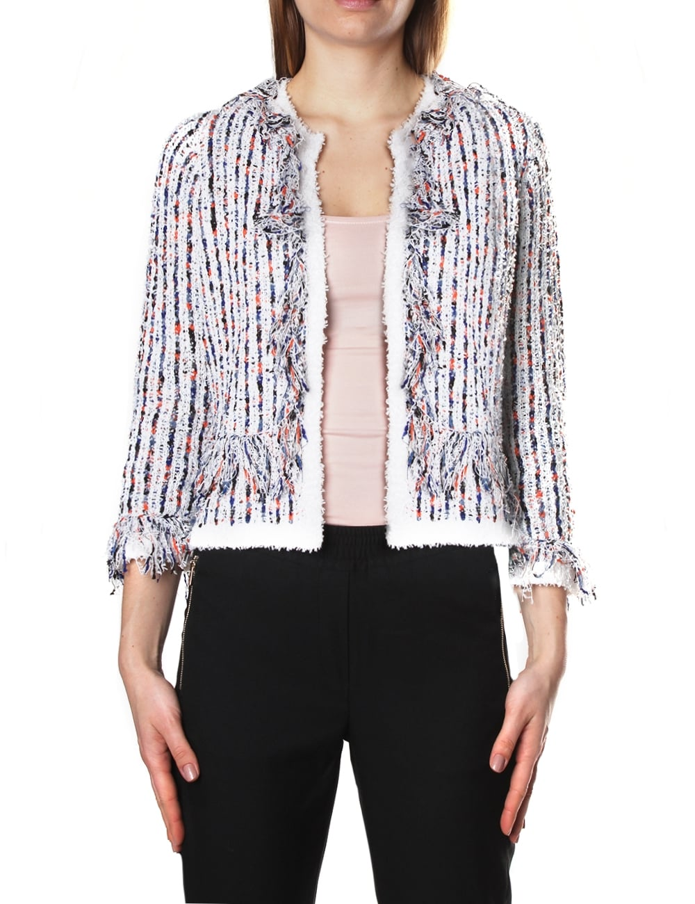 French Connection Buliuk Boucle Women's Cropped Knit Cardigan