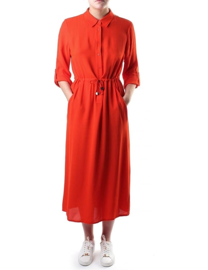 6c30b6ad97 French Connection Cecil Women s Drape Shirt Dress Orange