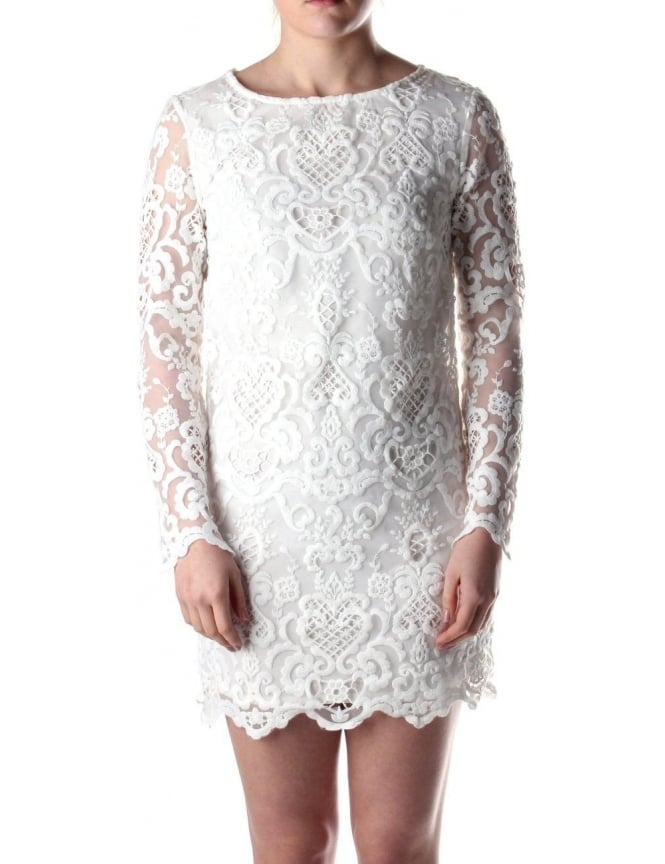 9677fcbbf7 French Connection Nebraska Women s Lace Tunic Dress White
