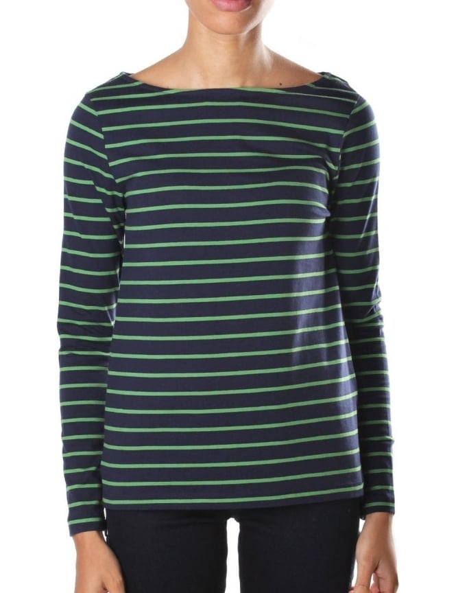 French Connection Tim Tim Women's Long Sleeve Tee Navy/Green