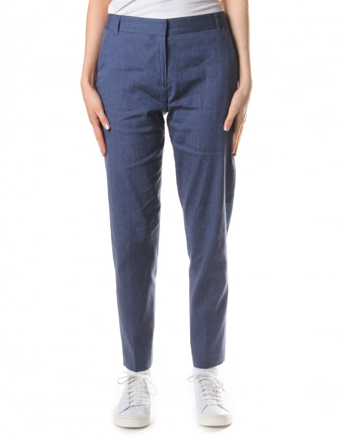 French Connection Women's Bour Linen Tapered Trousers