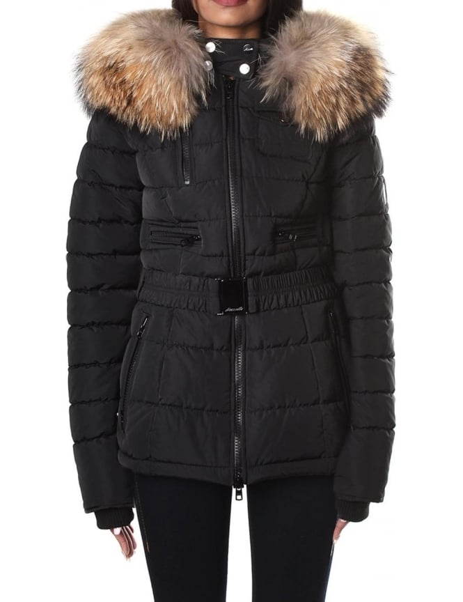 froccella B 40 Women's Real Fur Hooded Jacket
