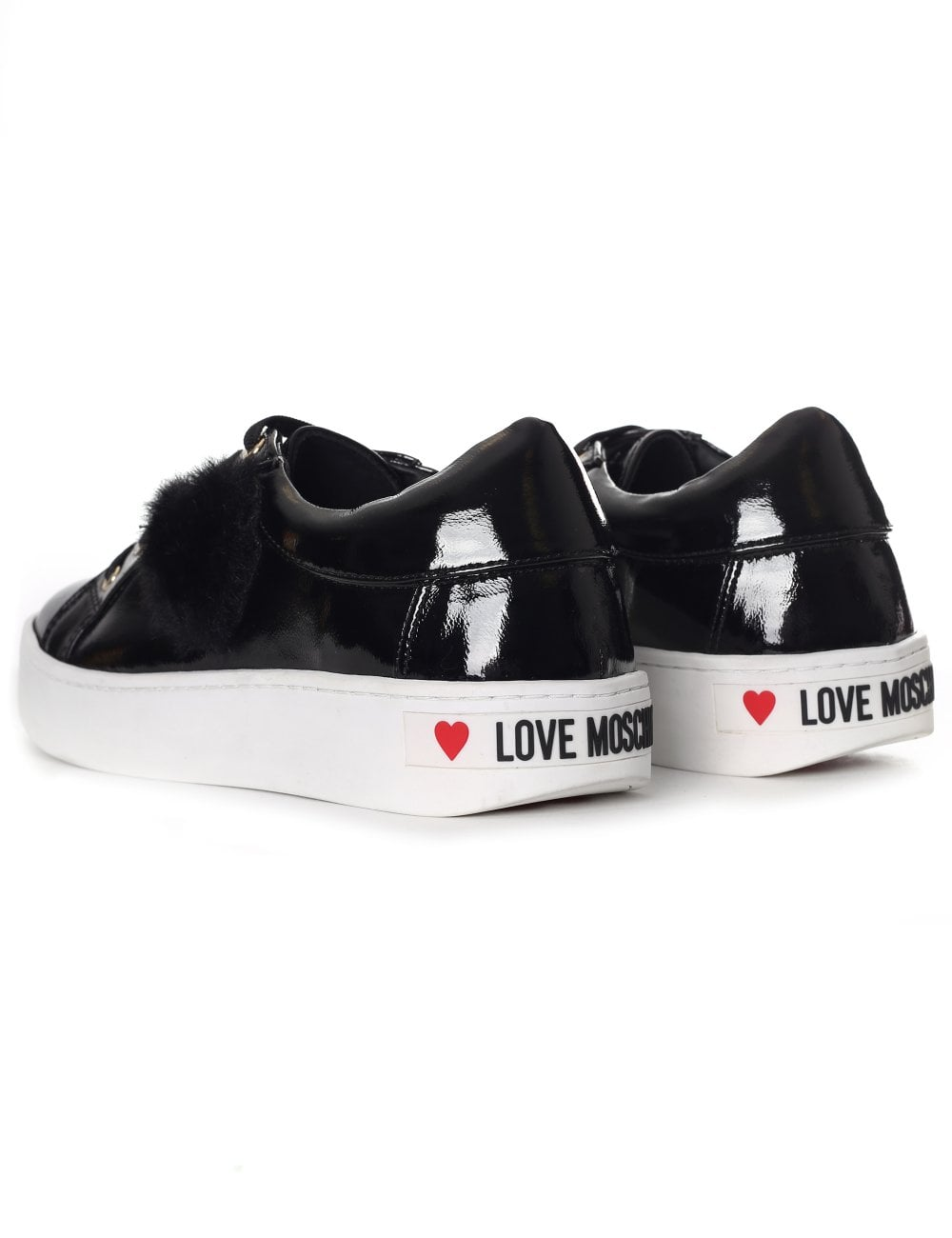 love moschino high top lace up sneakers heart, Moschino