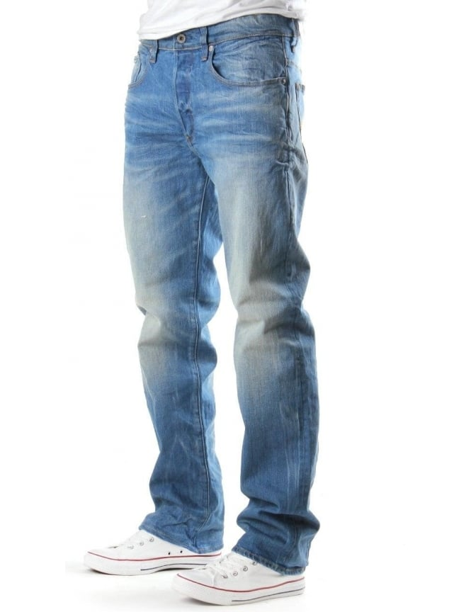 G-Star Raw 3301 Men's Loose Cyclo Denim Jean LT Aged