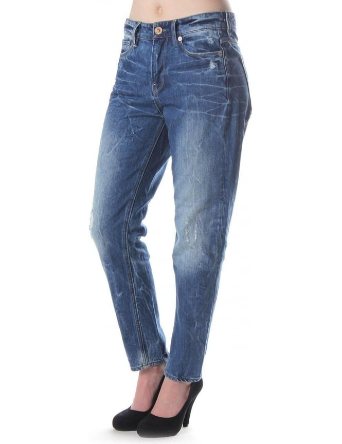G-Star Raw 3301 Tapered Wisk Denim Women's Jeans Light Aged