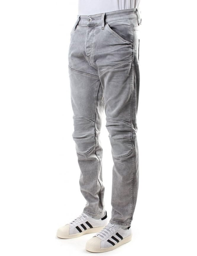 G-Star Raw 3D Tapered Kamden Grey Men's Stretch Jean Light Aged