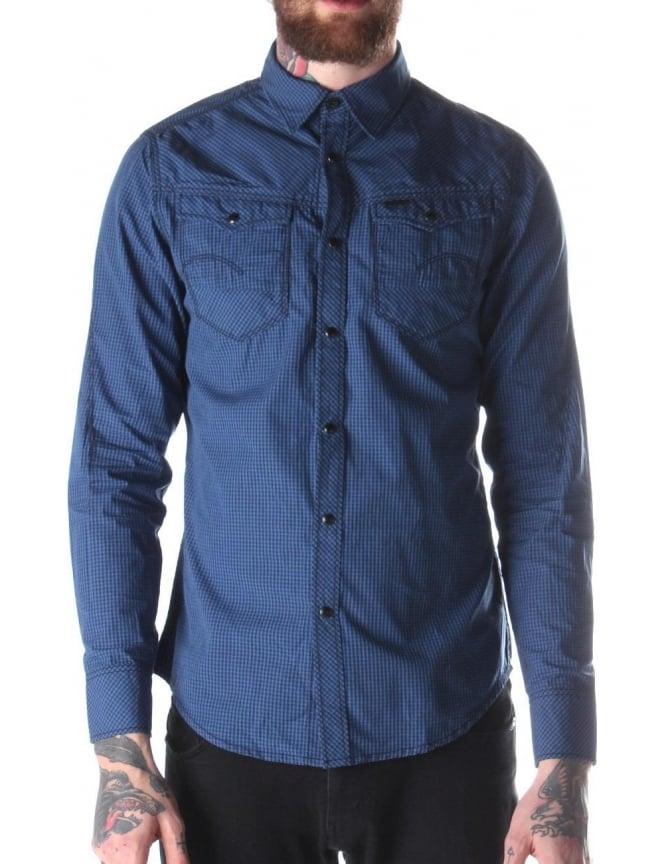 f1038801f6bbcb G-Star Raw Arc 3D Curbert Men's Shirt Blue