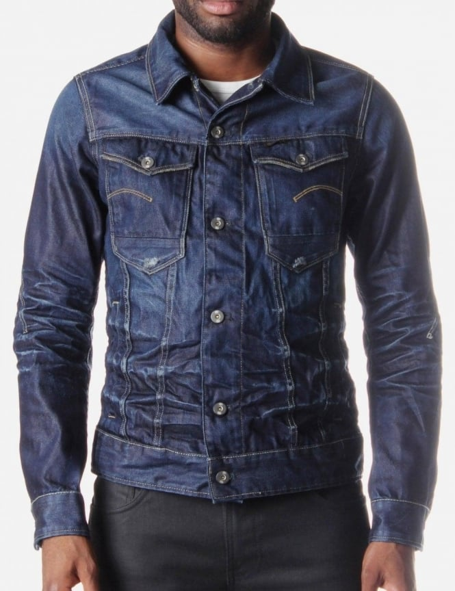 Arc 3D Lexicon Menu0026#39;s Denim Jacket Indigo