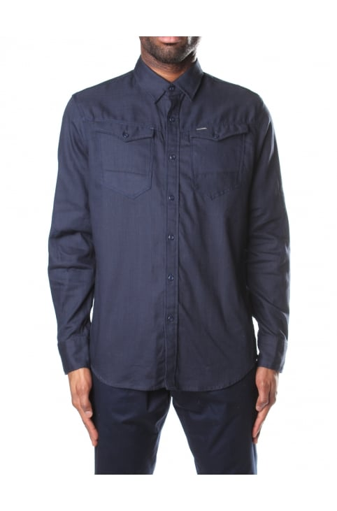 G-Star Raw Arc 3D Men's Denim Shirt Dk Police Blue