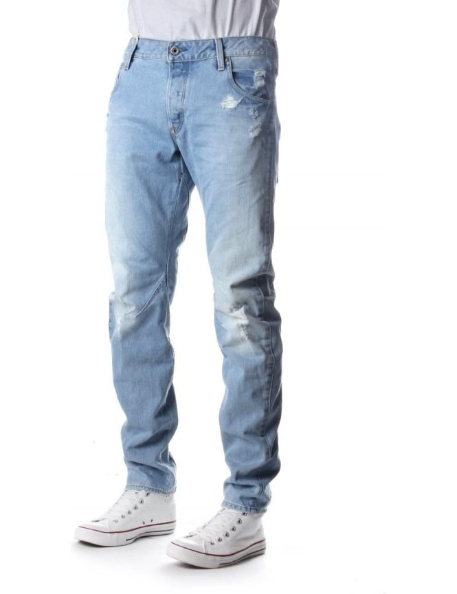 G-Star Raw Arc 3D Men's Slim Wisk Denim Jean Light Aged
