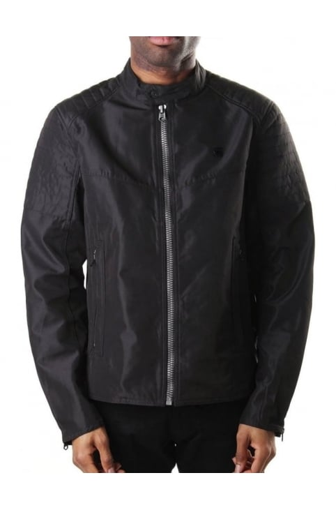 Attacc Men's Bonded 70's Nylon Jacket Black