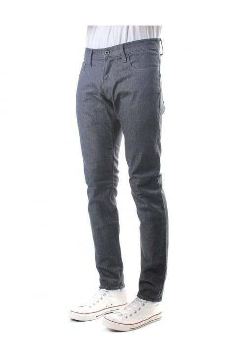 Decon Grey Super Stretch Men's Denim Jeans Rinsed