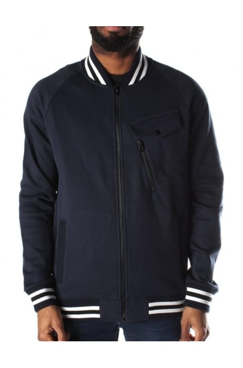 Frockt Men's Sherland Sweat Bomber Blue
