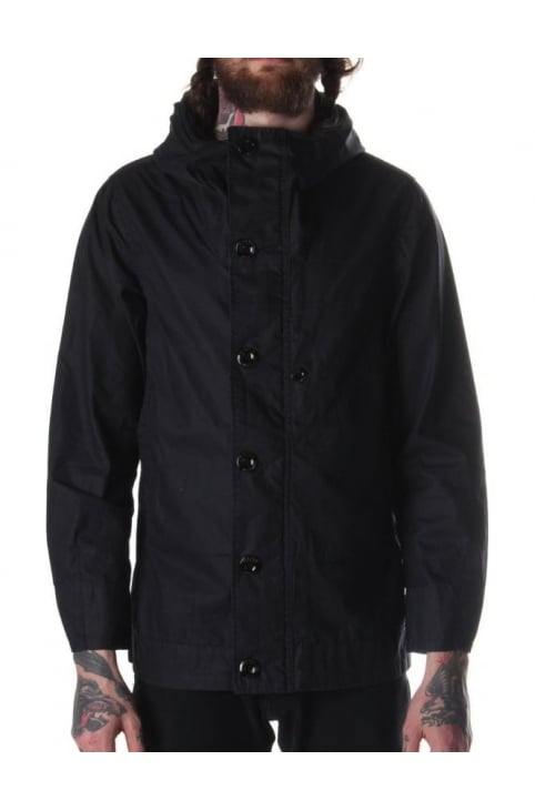 Lamrik Men's Boron Waxed Canvas Jacket Indigo