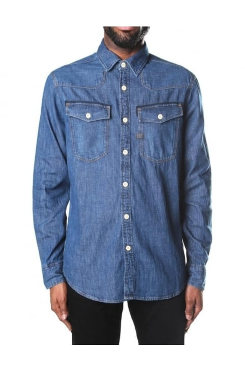 Light Weight Men's Craser Denim Shirt Medium Aged