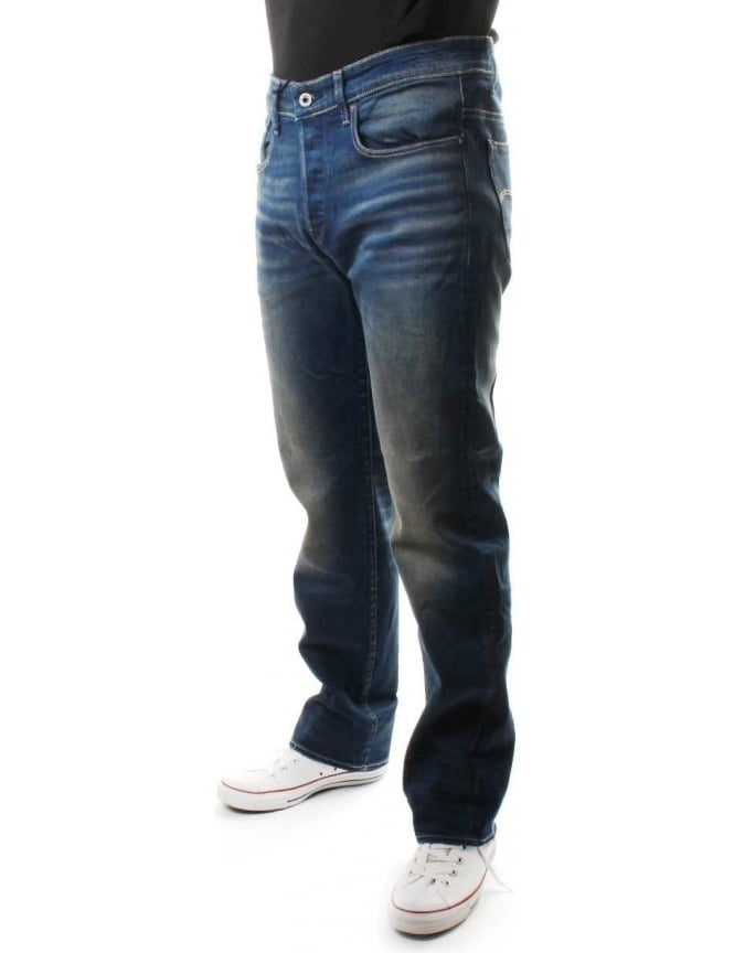 G-Star Raw Loose Firro Men's Sretch Denim Jean Med Aged