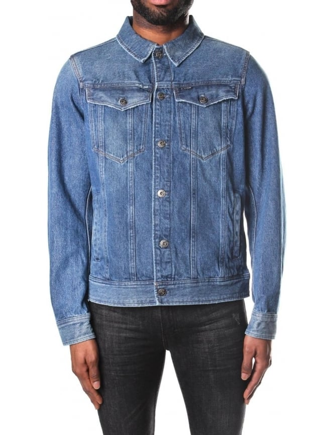 G-Star Raw Men's 3301 Deconstructed Tobe Denim 3D Slim Jacket