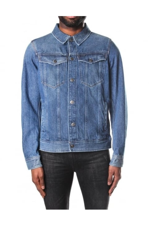 Men's 3301 Deconstructed Tobe Denim 3D Slim Jacket Medium Aged Antic