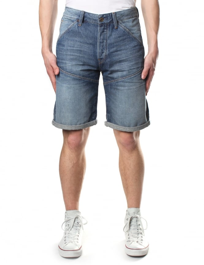 G-Star Raw Men's 5621 3D Tobe 1/2 Denim Short