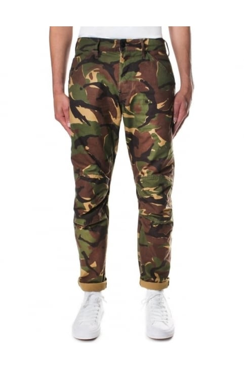 Men's Elwood X25 Lucas Canvas Woodland Camo 3D Tapered Jean