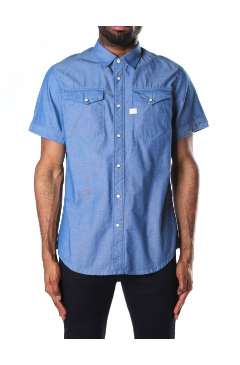 Men's Tacoma Deconstructed Chambray Shirt Imperial Blue/Milk
