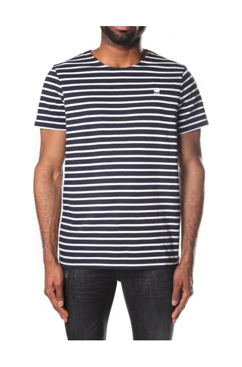Men's Xartto RT Dry Jersey Submarine Stripe T-Shirt Sartho Blue/Milk Stripe