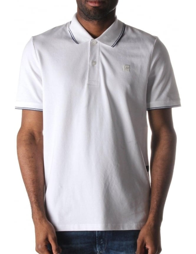 G-Star Raw Mikan Men's Premium Stretch Polo Top White
