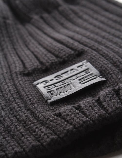 7e54ba156e0 G-Star Raw Original Cotton Knit Coper Men s Beanie Black