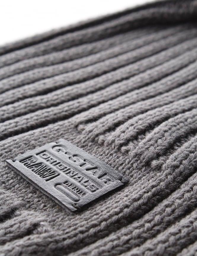 5d98fa1f20b G-Star Raw Originals Cotton Knit Men s Beanie Grey