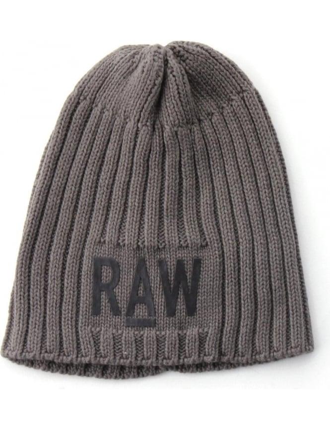 e6b3def99 G-Star Raw Originals Men's Ribbed Beanie Grey