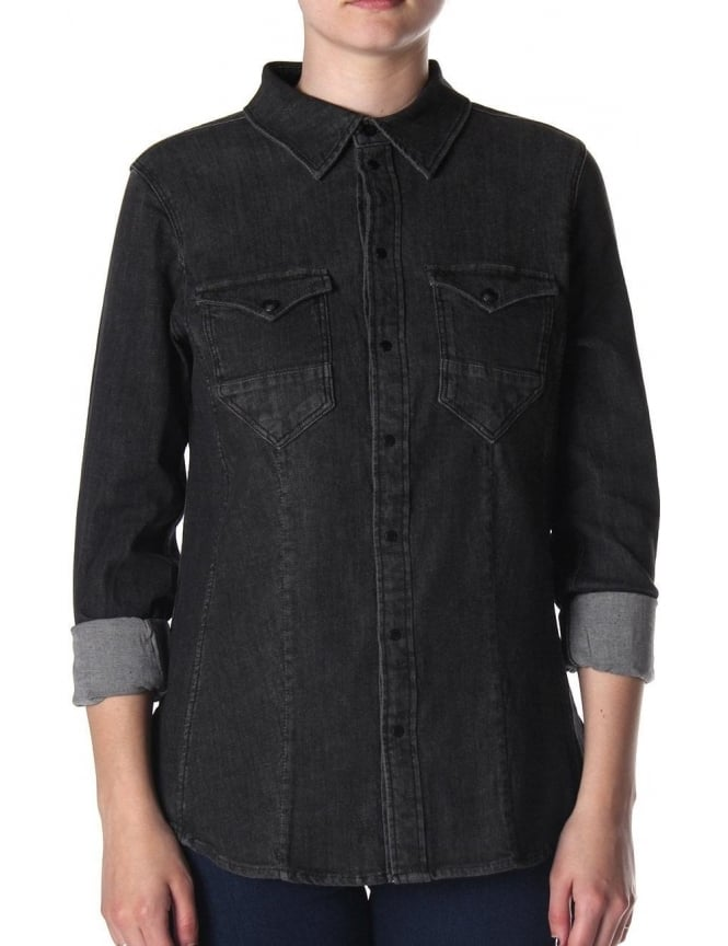 G-Star Raw Tacoma Straight Women's Denim Shirt Vintage Aged