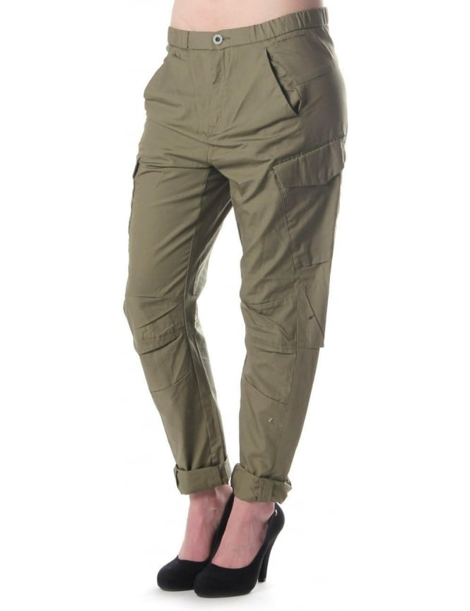 G-Star Raw Tycho Battle Loose Women's Tapered Trousers Green