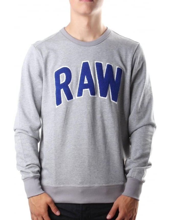 G-Star Raw Warth Men's Sherland Sweat Top Grey