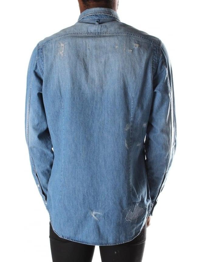 e5b0dd303c G-Star Raw Wolker Light Weight Craser Men s Denim Long Sleeve ...