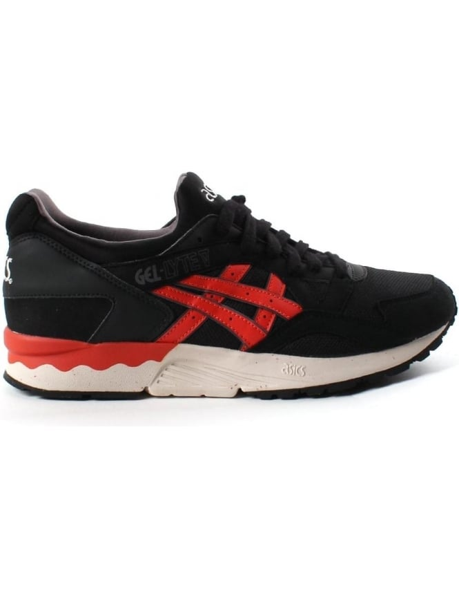 best loved 76846 5c90c Asics Gel-Lyte V Men's trainer Black/Red