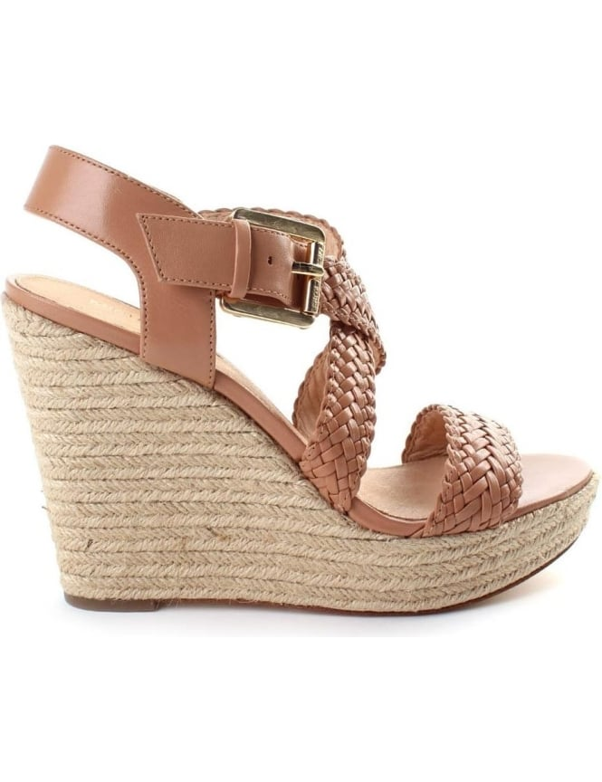 57e9ce6fd2f Michael Kors Giovanna Women's Woven Wedge Sandal Tan