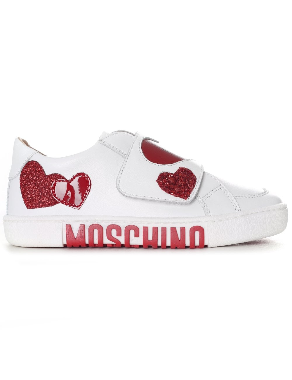 official shop the latest autumn shoes Moschino Girls Velcro Teddy Trainer