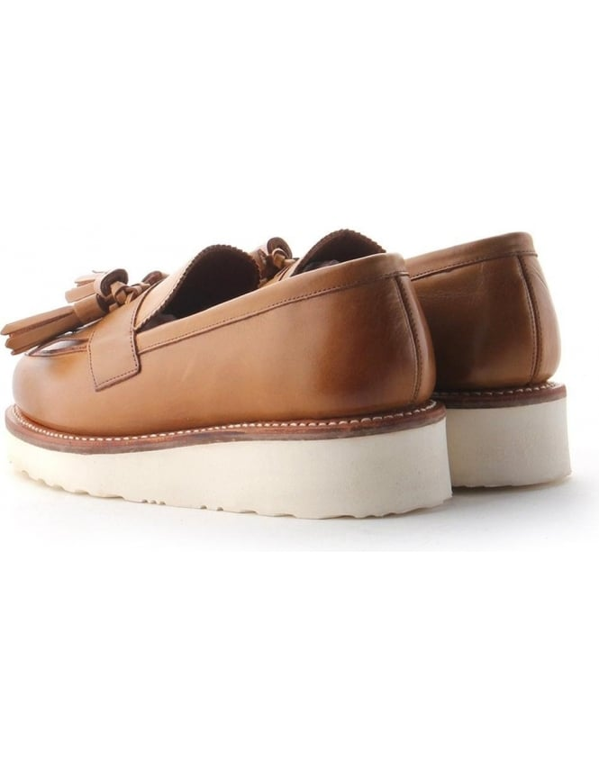 44e558b8881 Clara Tassle Women s Wedge Heel Loafer Shoe Tan
