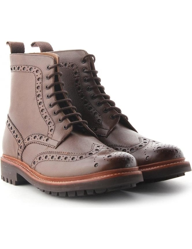 a27025dc9ce Grenson Fred Commando Sole Men's Leather Brogue Boot Brown