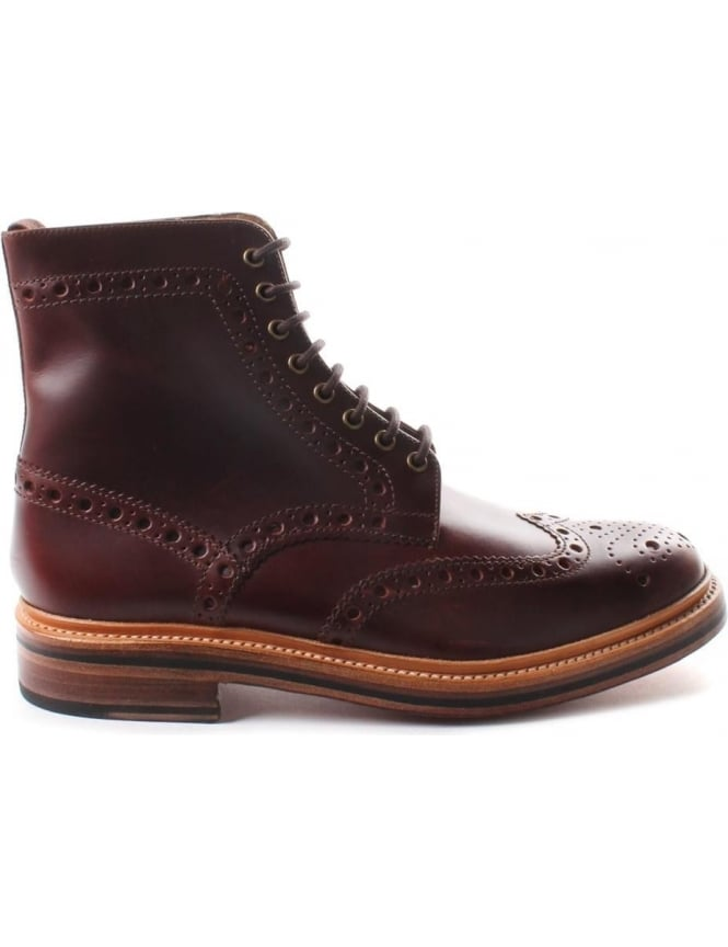 8c4a398f178 Grenson Men's Fred Brogue Boot Chestnut