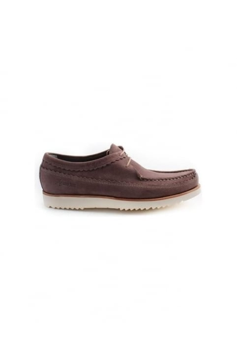 Owen Men's Nubuck Boat Moccasins Brown