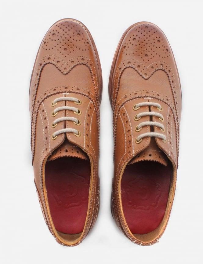 f8f3509ce6b Grenson Rose Women's Leather Brogue Shoe Tan