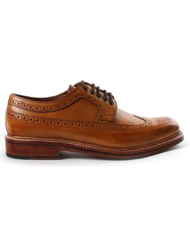Grenson Sid Classic Wingtip Men's Royal Brogue Tan