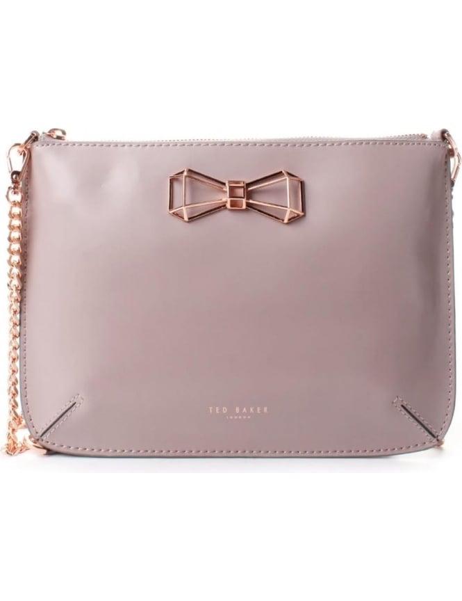 d3e39cd3e Ted Baker Gretaa Women's Geometric Bow Leather Crossbody Bag Purple