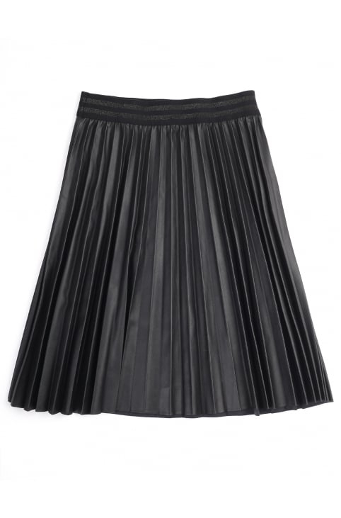 Girls Pleated And Coated Skirt