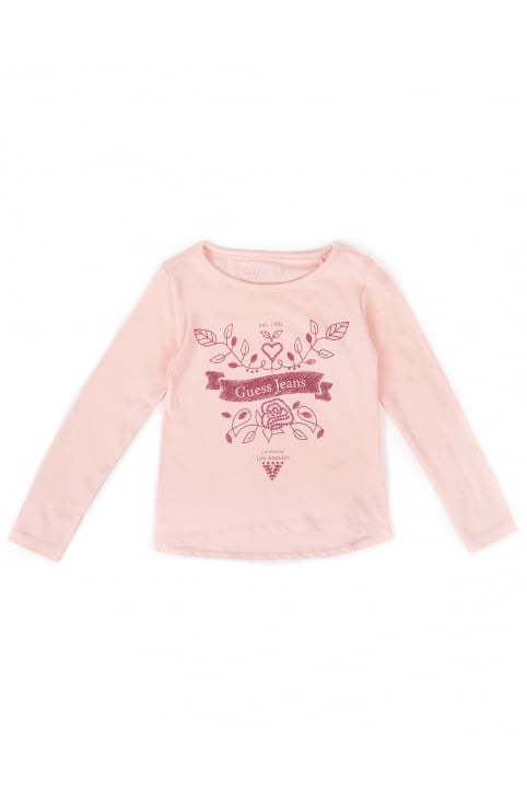 Jeans Girls Long Sleeve Top